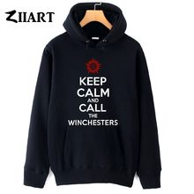 Supernatural Anti-possession KEEP CALM and CALL THE WINCHESTERS couple clothes girls woman female autumn winter fleece hoodies()