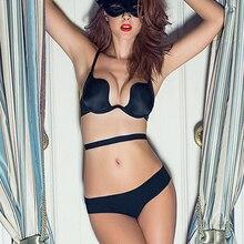 BEFORW Deep U Sexy Lingerie Backless Bra Ultra-low-cut  Underwear Brassiere Push Up Bras For Women Vs Brand Intimates Bralette