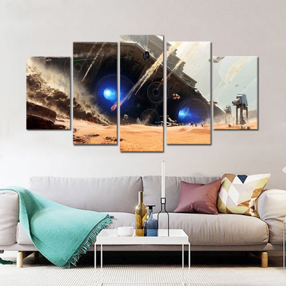Unframed HD Canvas Prints Spaceship Giclee Wall Decor Prints Wall Pictures For Living Room Wall Art Decoration Dropshipping
