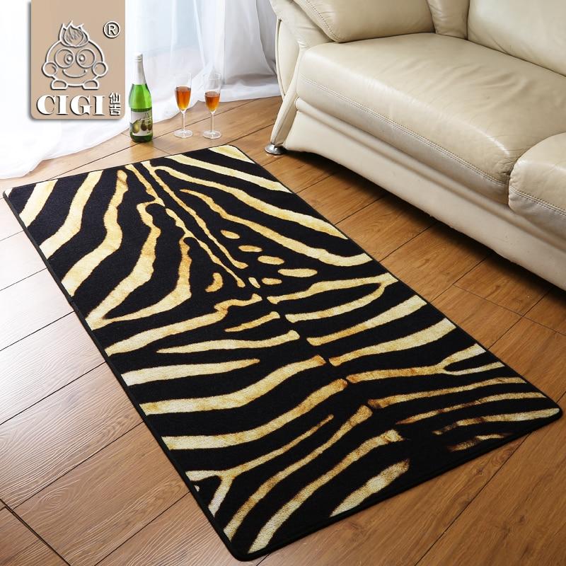 CIGI New Zebra Pattern Creative Carpet Bedroom Living Room Floor Mat Table Sofa Kitchen Bathroom Anti