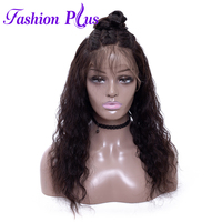 Full Lace Human Hair Wigs With Baby Hair Brazilian Virgin Hair Wigs For Black Women Human Hair Wigs Nature Curly Wave 12'' 26''