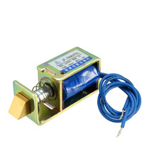 цена на Uxcell 300mA/1A DC 12/24V Solenoid Electromagnet 12/24W 5/14.7/15N 10mm Pull Push Type Linear Motion Energy Saving AC Tractive