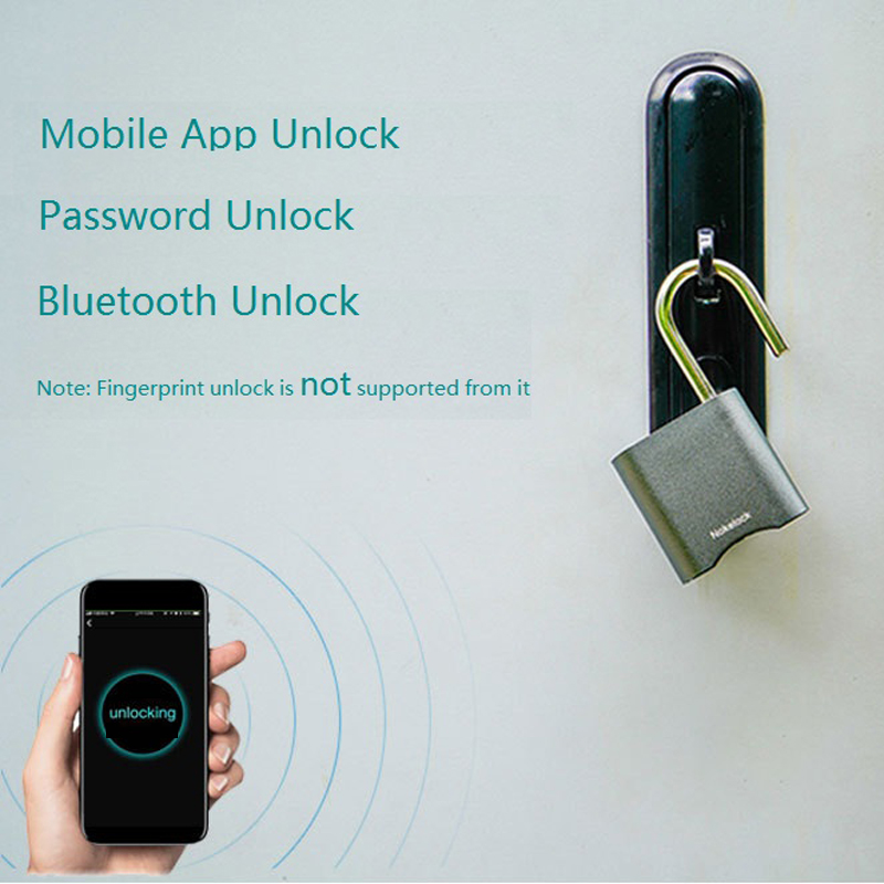 Wouwon Mini Smart Lock Bluetooth Lock Electronic Password lock Keyless  Waterproof Unlock Padlock Door Lock For Mobile Phone App
