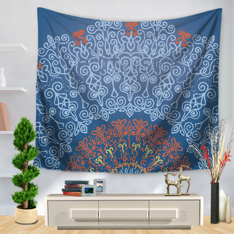 Image 2 - CAMMITEVER Table Cloths Indian Tapestry Black White Gray Blue Green Bohemian Tapestry Wall Hanging Mandala Towel Bedspread Shawl-in Tapestry from Home & Garden