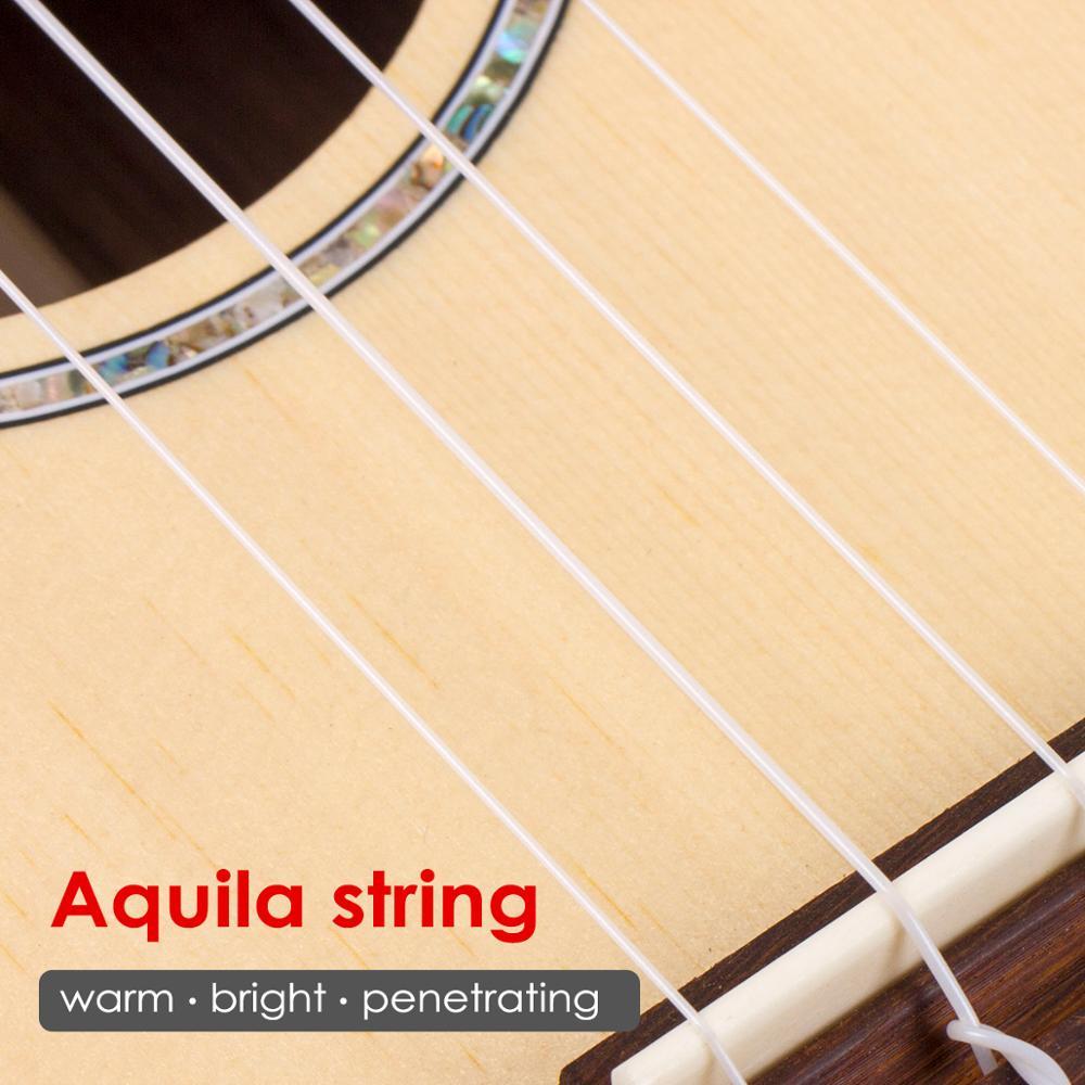 Kmise baryton ukulélé épicéa massif 30 pouces Ukelele Uke 4 cordes Hawaii guitare - 4