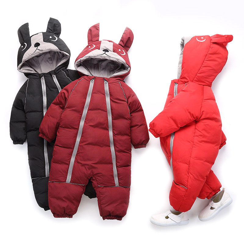 06b49dca9ee45 Winter Baby Rompers for Boys and Girls Overalls Bodysuit Clothes Jumpsuit  Newborn Down Cotton Snowsuit Kids