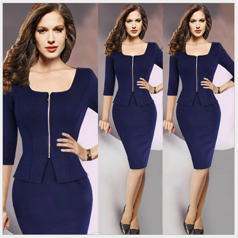 Spring New Women work casual dress office lady women suits with ...