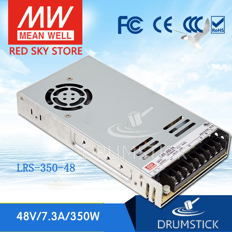 цена на (Only 11.11)MEAN WELL LRS-350-48 (2Pcs) 48V 7.3A meanwell LRS-350 350.4W Single Output Switching Power Supply
