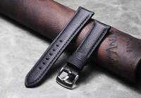 Vintage Black Leather Strap Watch Band Watch Accessories Bracelet 20mm 21mm 22mm 24mm 26mm Fashion Watchband For Omega Panerai