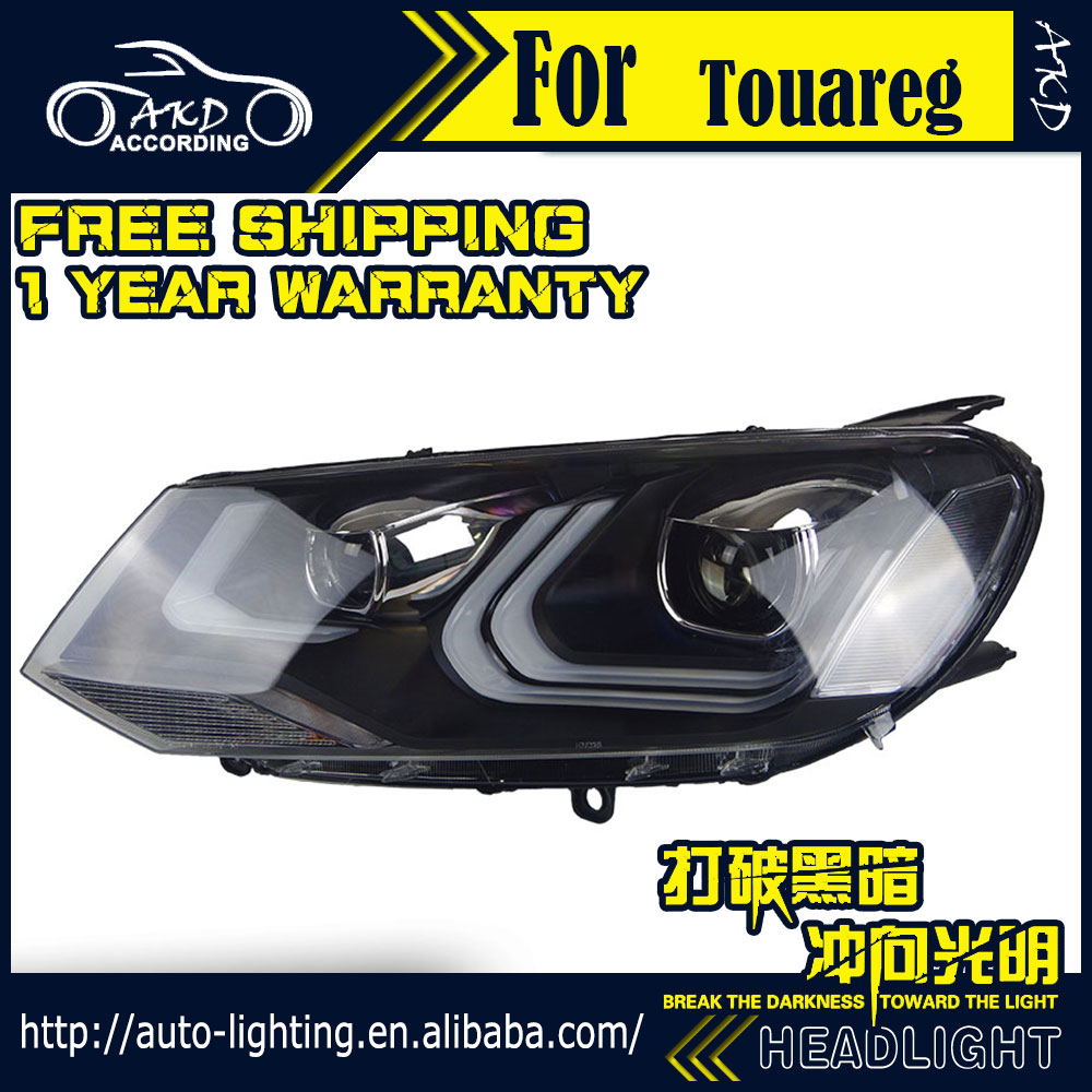 AKD Car Styling Headlight Assembly for VW Touareg Headlights Bi Xenon LED Headlight LED DRL HID 2004 volkswagen touareg headlight bulb replacement headlight bulb  at gsmx.co