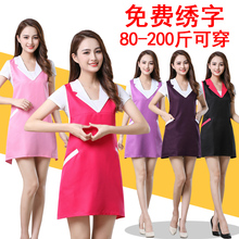Beauty salon beautician apron custom logo fashion manicure anti-fouling mother and child shop new health work clothes size