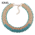Kinel 2016 New Natural Crystal Flower Necklace For Women Luxury Necklaces Vintage Jewelery