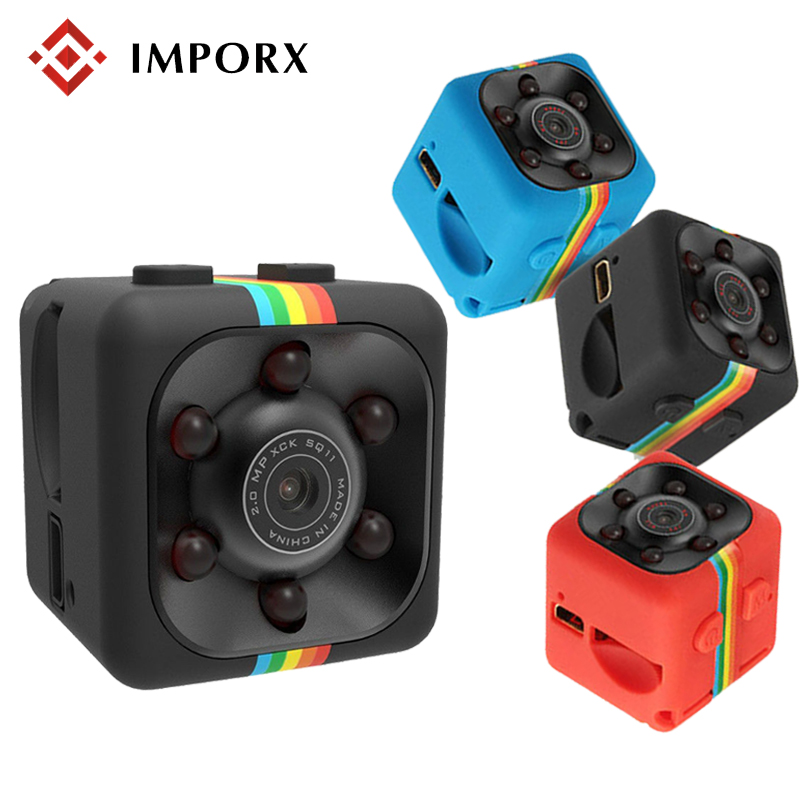 IMPORX SQ11 Mini Camera 1080P Sensor Night Vision Camcorder Motion DVR Micro Camera Sport DV Video Small Camera Support TF Card