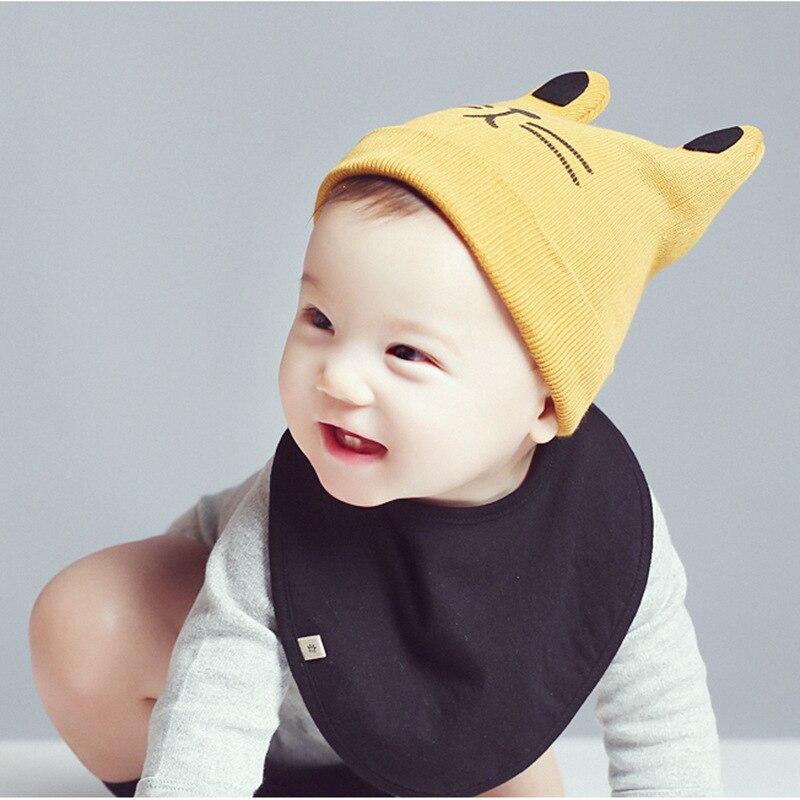 Mode 0-24 maanden Warm kind kat oren gebreide muts baby wol hoed (6 - Babykleding - Foto 6