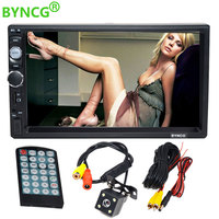 2 Din Auto Car Radio Stereo AutoRadio MP3 4 MP5 Video Multimedia Player 7 inch Monitor with Bluetooth Rear View Camera