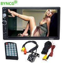 2 Din Авто Радио Стерео Авторадио MP3 4 MP5 видео мультимедийный плеер 7-дюймовый монитор с Bluetooth заднего вида Камера