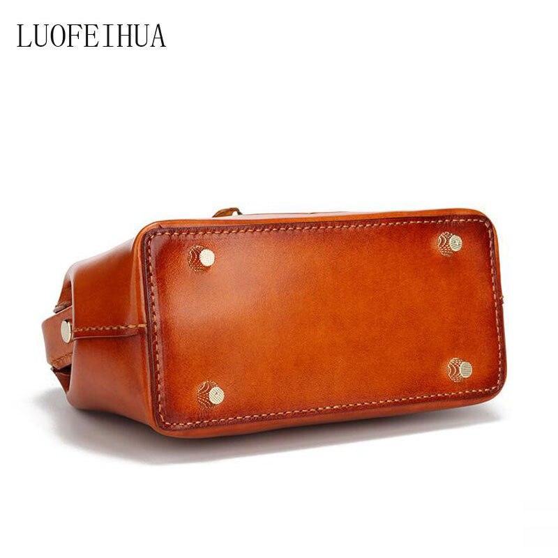 Bolso de cuero genuino para mujer 2019 nuevo estilo chino bolso de mensajero portátil de lujo de cuero tallado retro bolsa de viaje bolso de diseñador - 5