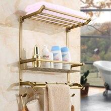 Европейский стиль все медь античная полки ванная комната sbeves стены стеллажи вешалки для полотенец, ванная комната аппаратных кулон
