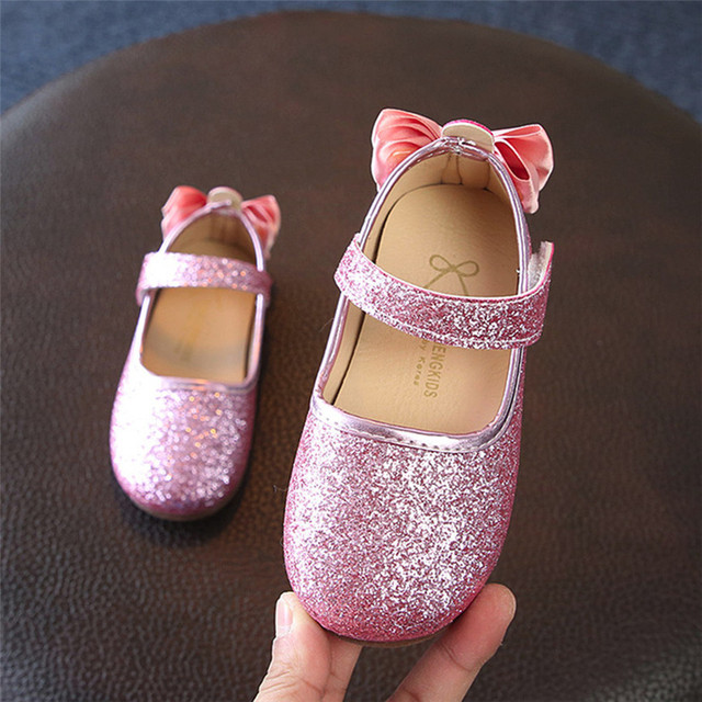 Glitter Flats with Bow
