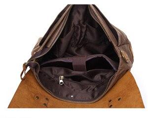 Image 5 - AUGUR nouvelle mode hommes Vintage sac à main en cuir véritable sac à bandoulière messager sacoche pour ordinateur portable sacoche sac Fit 14 pouces ordinateur portable