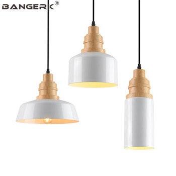Industrial Loft Lamp LED Vintage Pendant Light Iron Wood Hanging Lamps Pendant Lighting Fixtures Dining Room Lights Luminaire