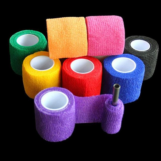 50 pcs Disposable Self-adhesive Elastic Bandage Tattoo Accessories Tattoo GRIP COVER Wide Elbow Tattoo Power Supply 4.5 meters