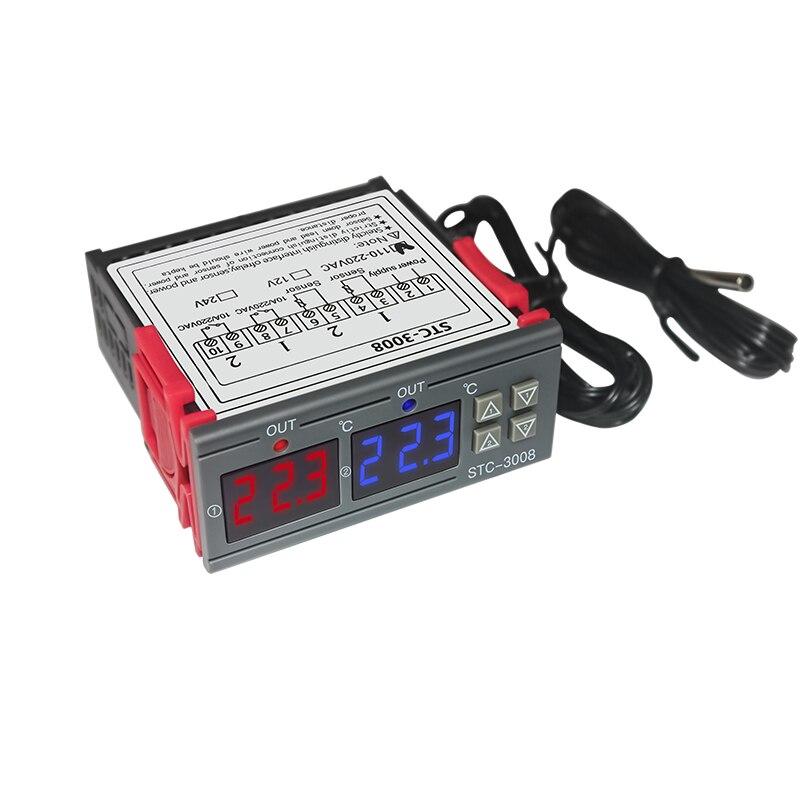 Messung Und Analyse Instrumente Realistisch Stc-3008 Ac 220 V 12 V 24 V Digital Dual Thermometer Temperatur Controller Thermostat Inkubator Steuerung Zwei Weg Ausgang Dual Sonde Werkzeuge