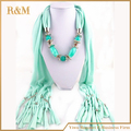 solid color cotton Scarves Long Tassel Pendant Necklaces pendant Scarf Jewelry pendant for Women scarf