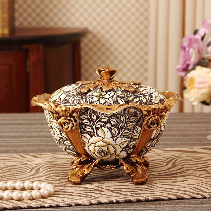 christmas Coffee table candy box European style storage tank living room decoration luxury canning pot fashion home