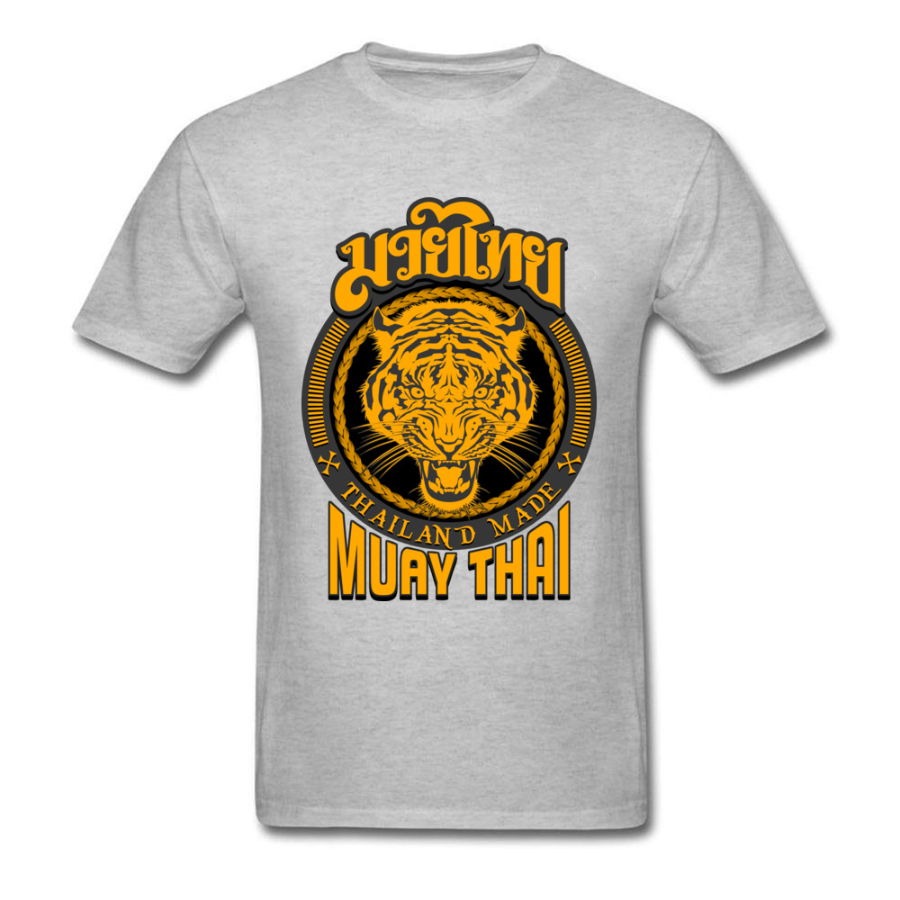 Cool Muay Thai Tiger Thailand T-shirt For Man Kung Fu T Shirt Mens Black Clothing Cotton Tees Groups Tops Hip Hop Tshirt