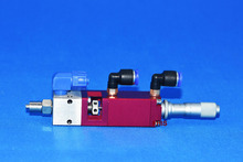 FHIS - 3002 double acting square plunger type dispensing valve corrosion resistant ink and so on one-component adhesive red new