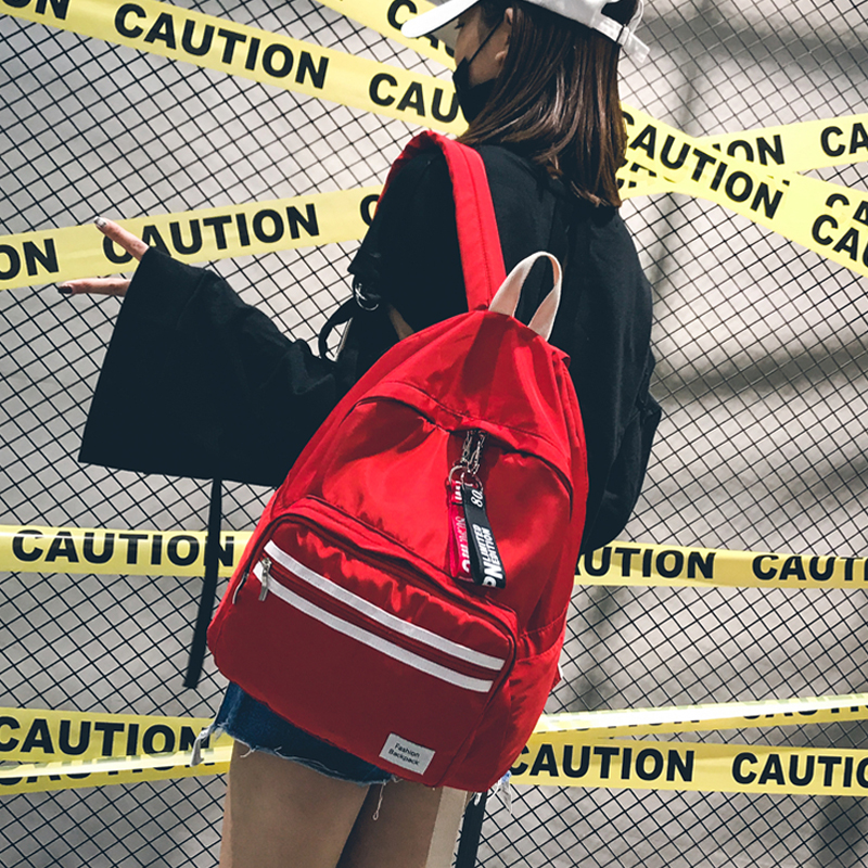 Women Korean Style Harajuku Backpack High School Student Hong Kong Style Joker Simple School Bag Fashion Casual Oxford Backpack harajuku style ice cream printing backpack high middle school student shoulder bag backpack for teenager girls casual travel bag