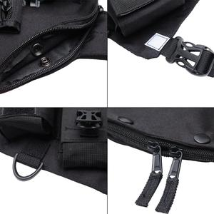 Image 3 - Abbree chest harness 프론트 팩 파우치 홀스터 조끼 리그 양방향 라디오 워키 토키 (rescue essentials) (reflective black)