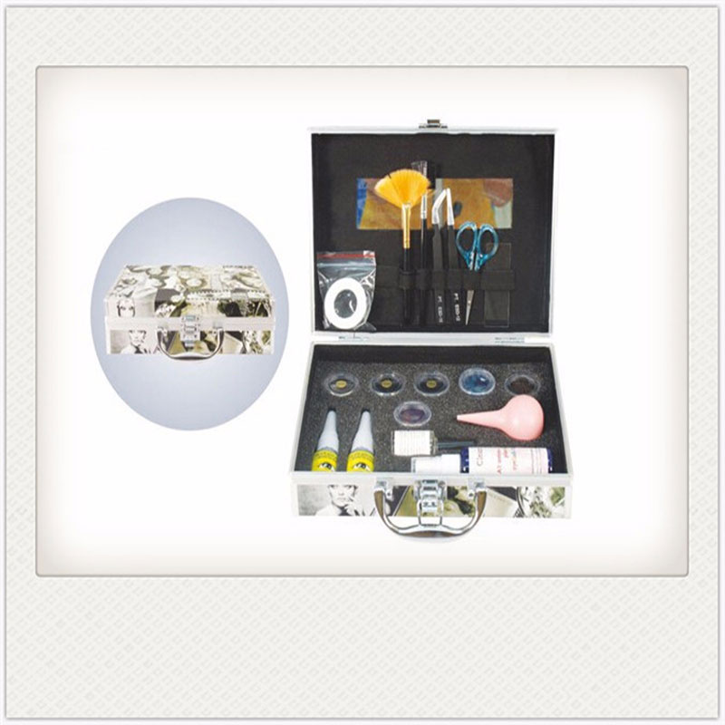 Eyelash Extension Kit Full Set,Eyelash Extension Strong Glue, Silk Eye Gel Pads,Lint free,Eyelash Comb Brush,Eyelash Glue Pallte
