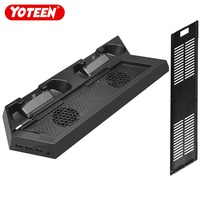 Yoteen Accessories for PS4 Slim Controllers Vertical Stand Cooling Fan Dual Charging Station for Ps4 Slim Charger Dock USB Fans