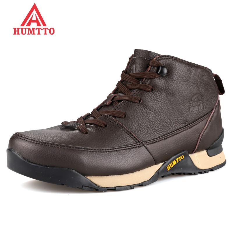 Hot Sale Mountain Hiking Shoes Men Lace-up Winter Outdoor Sneakers Genuine Leather Climbing Boots Breathable Brand Sport Hunting breathable lace up men outdoor hiking shoes