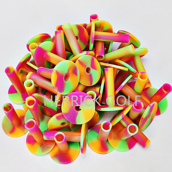 2-3/4 Durable Rubber Golf Tees  Colorful Ball tees 3pcs/pack free shipping