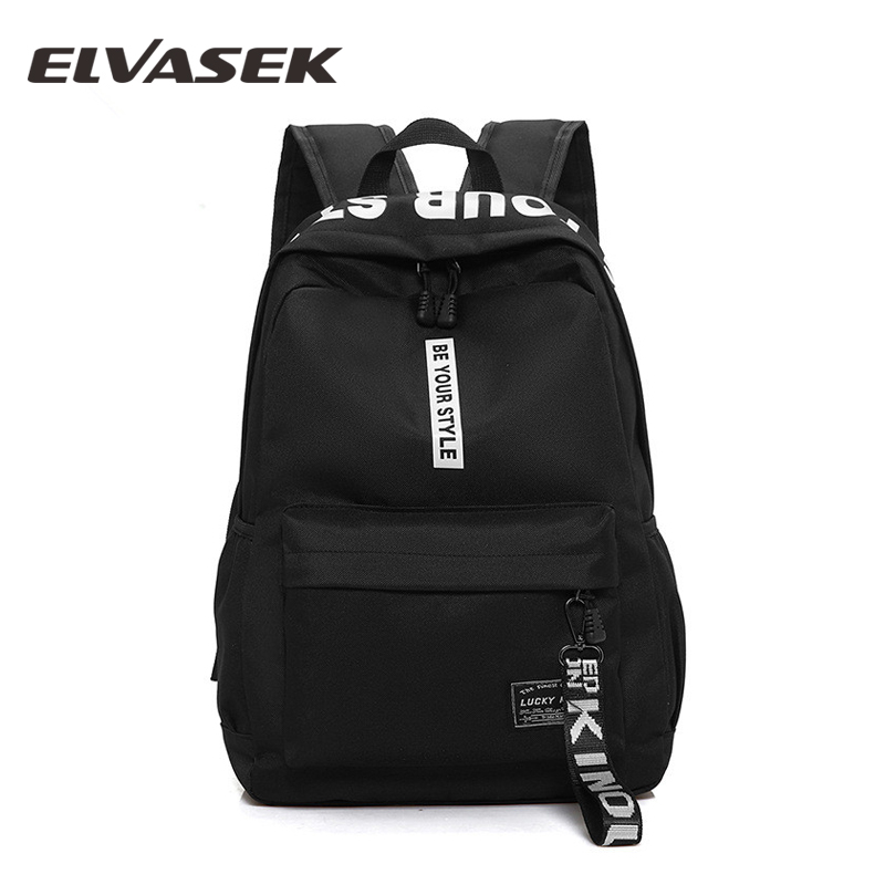 New Korea Style Casual Backpack Nylon Solid Color Student Bag Backpack Shoulder Bag School Bags For Tennage Girls Trendy Baggage