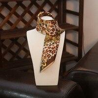 عالية الجودة سيدة blinger سلسلة الحرير وشاح الحرير القهوة ليوبارد الذهب الحقيقي مكتب سيدة حقيبة الديكور الحرير وشاح