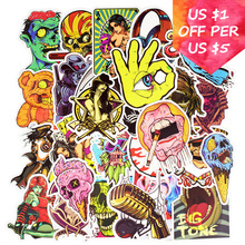 100Pcs Zombie Monsters Stickers For Suitcase Skateboard Laptop Cell Phone Motorcycle Bicycle Car Accessories Punk