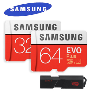 SAMSUNG EVO Plus Micro SD Class10 100MB/s UHS-I Memory Card 32GB 64GB 128GB 256GB with Adapter and USB3.0 MicroSD&SD Card Reader
