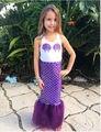 Ropa de los Bebés de La Sirenita Ariel Muchachas de Los Cabritos Vestidos de Princesa Cosplay Traje de Halloween