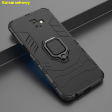 Shockproof Armor Case For Samsung Galaxy J6 Plus Prime 2018 Kickstand Finger Ring Holder 4 In 1 Phone Case Cover Shell(China)