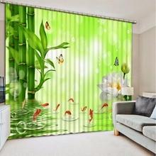 3D Curtain Bathroom Shower Curtain 3D Bamboo lotus butterfly flower green curtain 3D Bathroom Shower Curtain fancy 3d lotus pond design bathroom stickers
