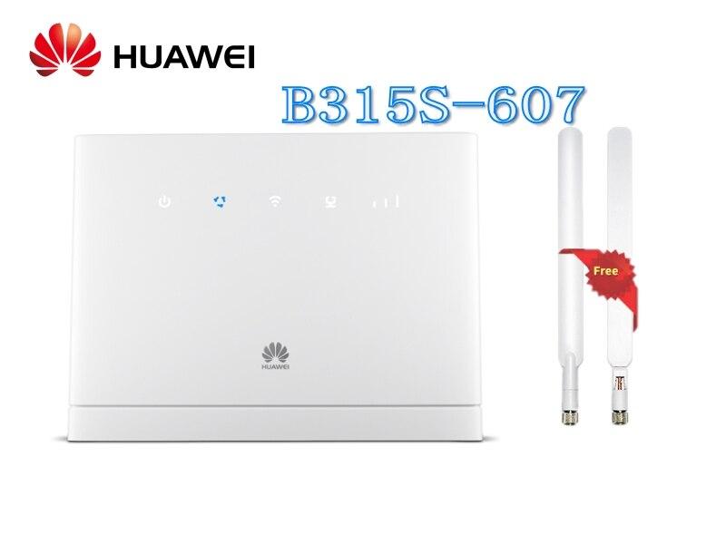 Desbloqueado Huawei LTE B315s-607 FDD700/900/1800/2100/2600 mhz TDD2300Mhz Móvel Roteador Gateway VOIP Sem Fio + 2 pcs ANTENA