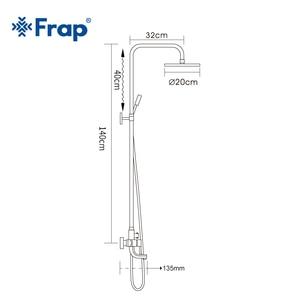 Image 5 - Frap 1 комплект «дождевой» смеситель для душа в ванную, смеситель с ручным распылителем, настенные наборы для душа и ванной с одной ручкой F2418