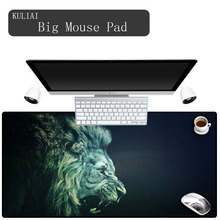 XGZ Black Lion Large Gaming Mouse Pad Locking Edge Mousepad Speed/Control Mat for CS GO League of Leg Dota 11 Size Mats