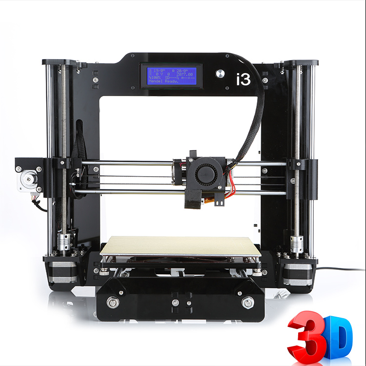 Reprap 3D Printer Prusa i3 3D Printer DIY Acrylic Framework With Screen LCD 8GB SD card