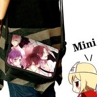 New Fashion DIABOLIK LOVERS Anime Cosplay Shoulder Bag Sakamaki Ayato Canvas Mini School Bags Unisex 25*16CM