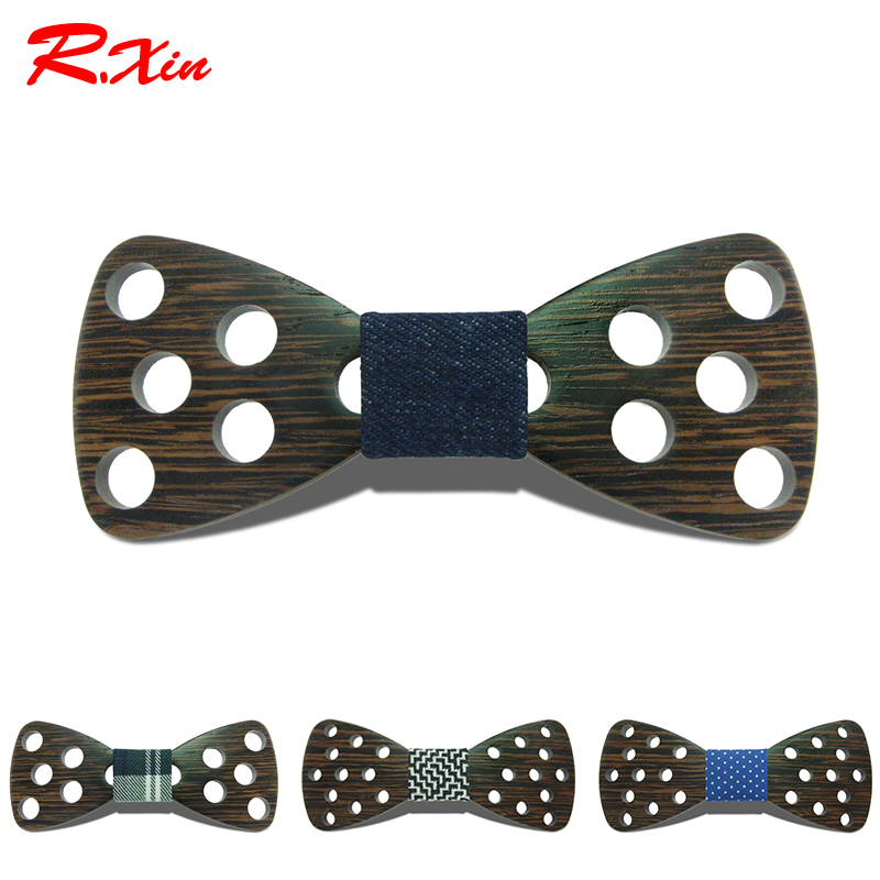 2016 New Design Brand Fashion Handmade Wood Bow ties Bowtie Butterfly Gravata Ties For Men DIY Dot Mens Wooden bow tie